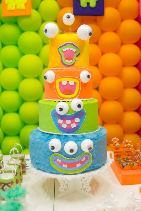 Monster Cake via Kara's Party Ideas