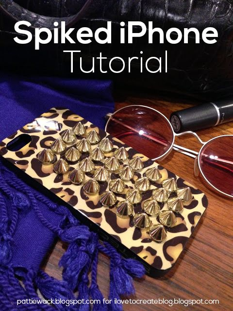 iLoveToCreate Blog: Spiked iPhone DIY using Jewelry & Metal Tabs