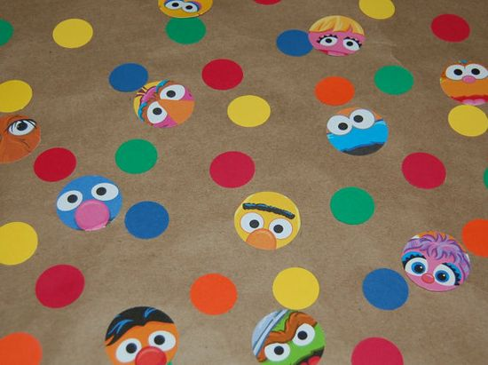 Sesame Street confetti..How Can I do this myself..hum...