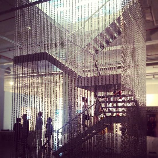 Hanging stair at the #Istanbul Modern Museum #museum #architecture #archdaily #instagood #iphonesia #stairporn #coolhunting