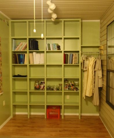 Sewing Room Wall Shelves