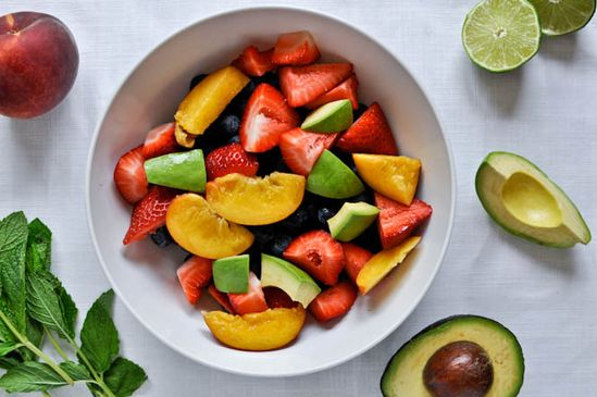 avocado lime fruit salad
