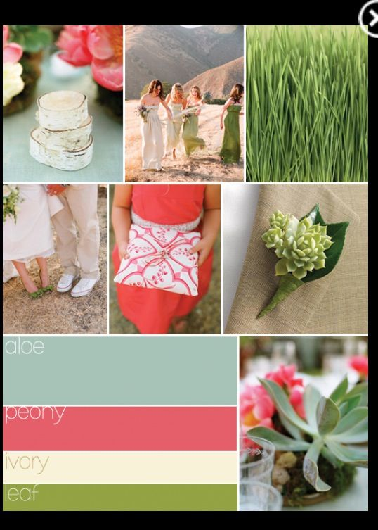 Spring wedding color idea
