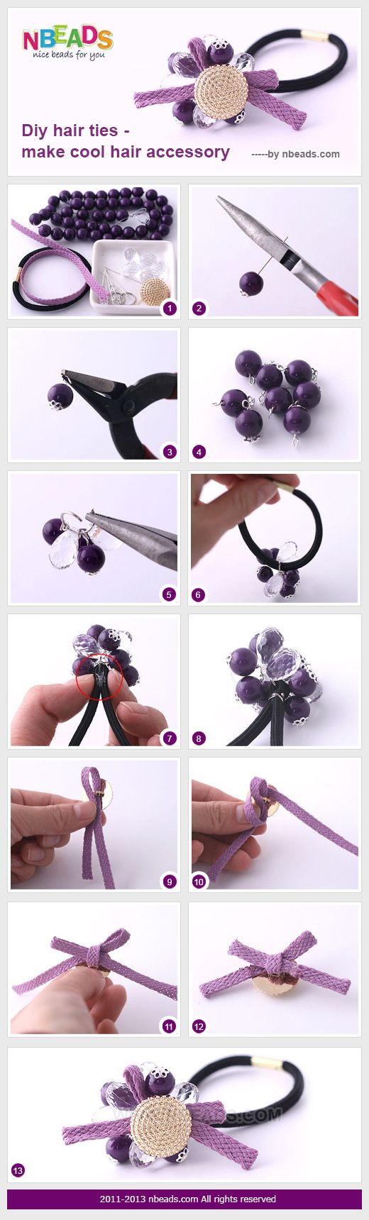 diy hair ties - make cool hair accessory