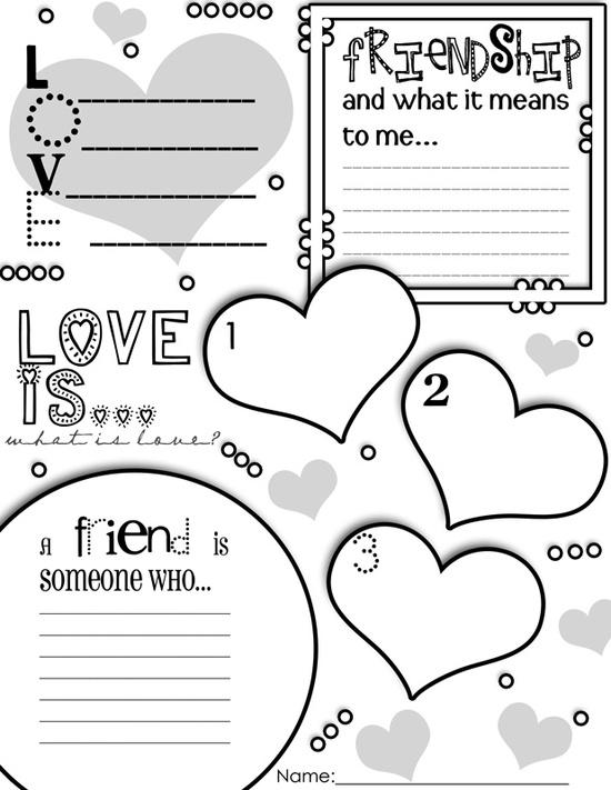 Valentine's Day Graphic Organizer Activity Poster Freebie!!!