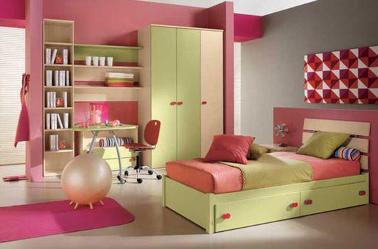 Bedroom Designs Arredissima Pink Pale Green Kids Bedroom Design