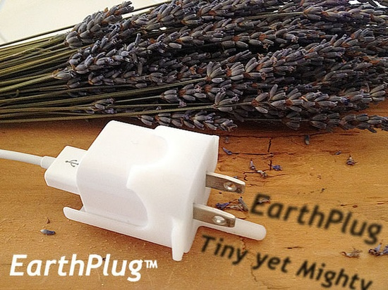 EarthPlug - Tiny Yet Mighty Power Saving iPhone Gadget by Helene Webman and Zoe Webman, via Kickstarter.