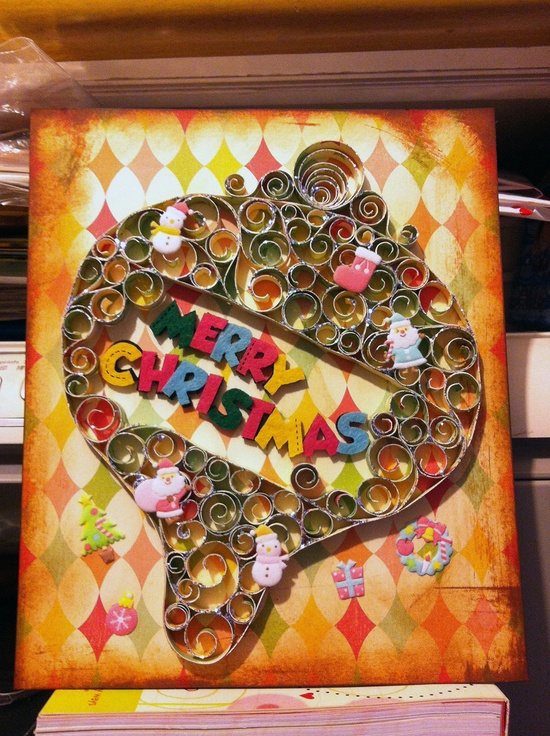paper quilling christmas card~ - Scrapbook.com