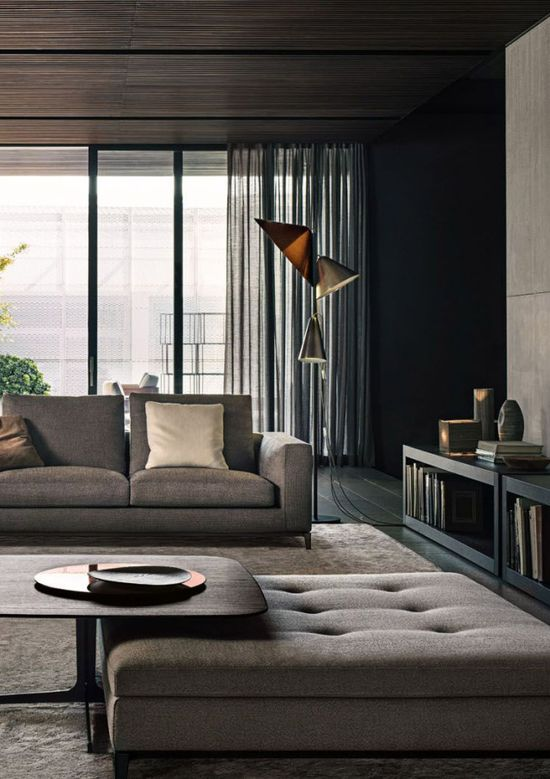 Living Room Interior Design By Minotti #design #furnishings #interiors #furniture #home