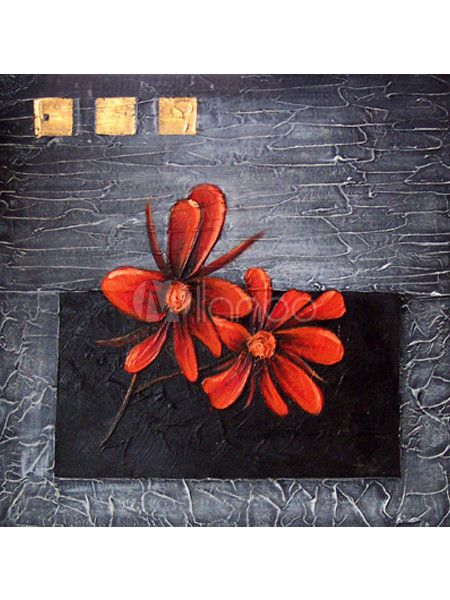Beautiful Flower Canvas Hand-Painted Abstract Oil Painting