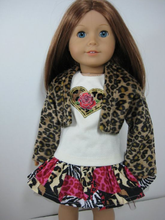18 inch Doll Clothes American Girl  Wild Side by nayasdesigns