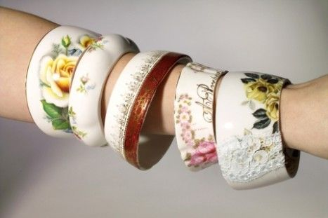 bracelets made from teacups! #jewelry #bracelet