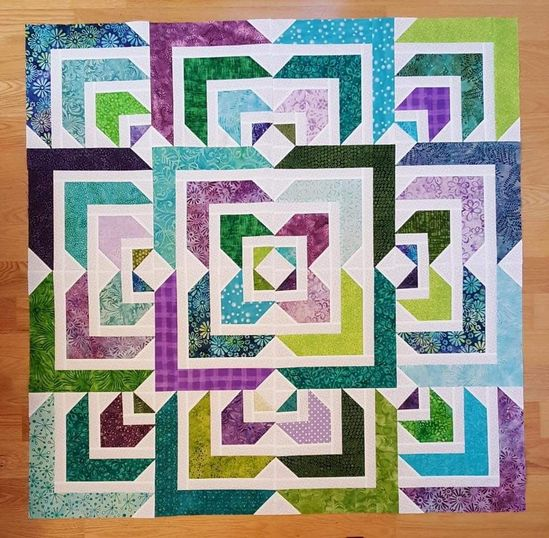 Northern Star Quilt from Missouri Star Quilt Company done in a different colorway