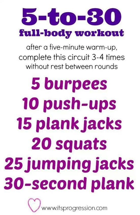 5 to 30 workout