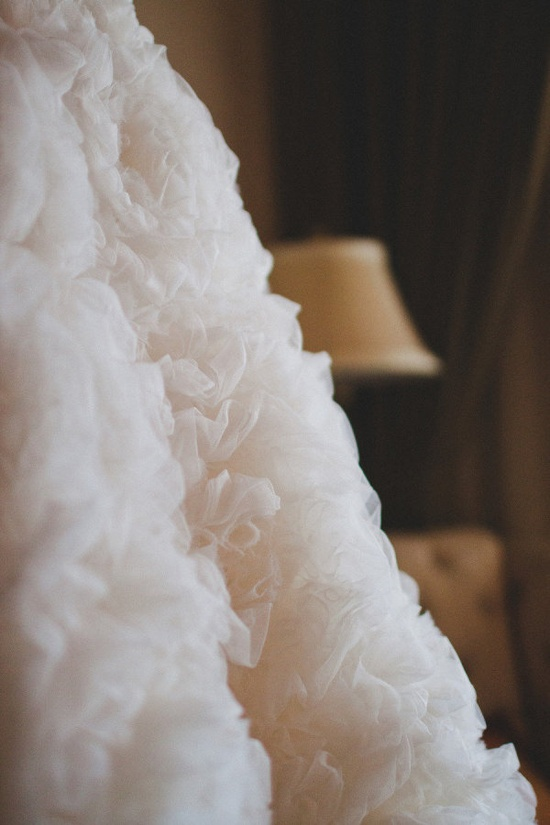 ruffle heaven   Photography by sessionninephotog..., Wedding Dress: Priscilla of Boston (now closed)