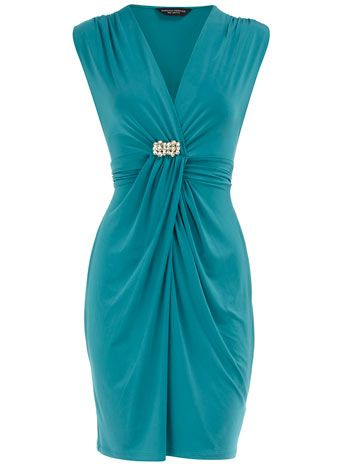 Jade embellished waist dress