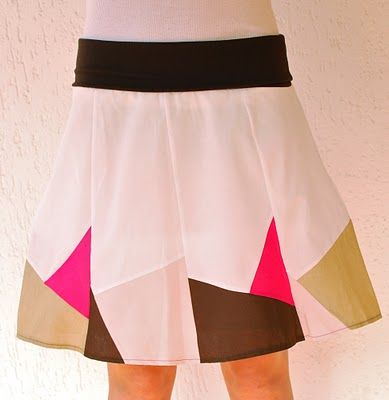 Geometric Design A-Line Skirt #tutorial #sewing #skirt