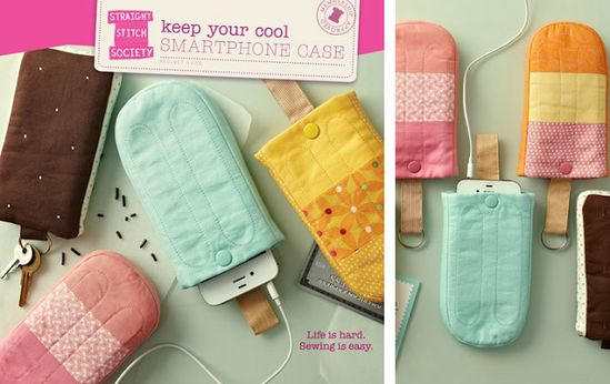sewing Popsicle smart phone cases from Straight Stitch Society