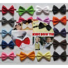 "(pick 5 Pcs) 11""-18"" Kids Pet Girl Pre-tied Tuxedo Formal Suit Bow ..."