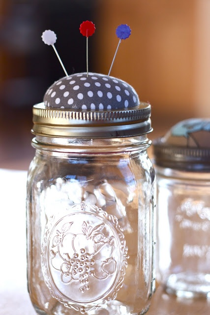 Handmade Gift Ideas - Pin Cushion Jar