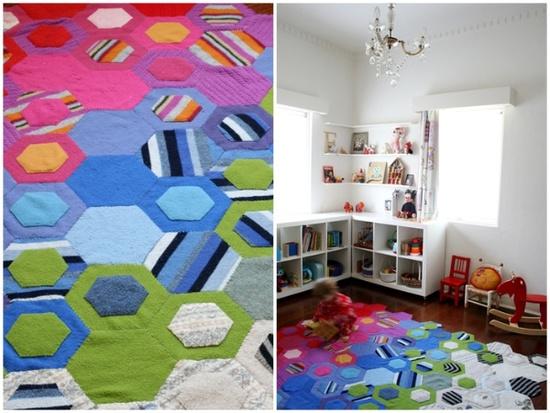 Handmade rug in nursery