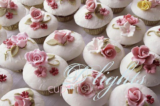 english rose garden cupcakes