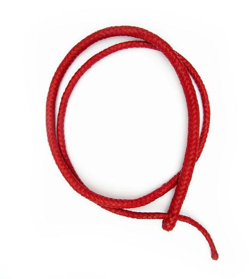 Sophie Hanagarth  Necklace: Q 2009  Leather braided in the style of a whip