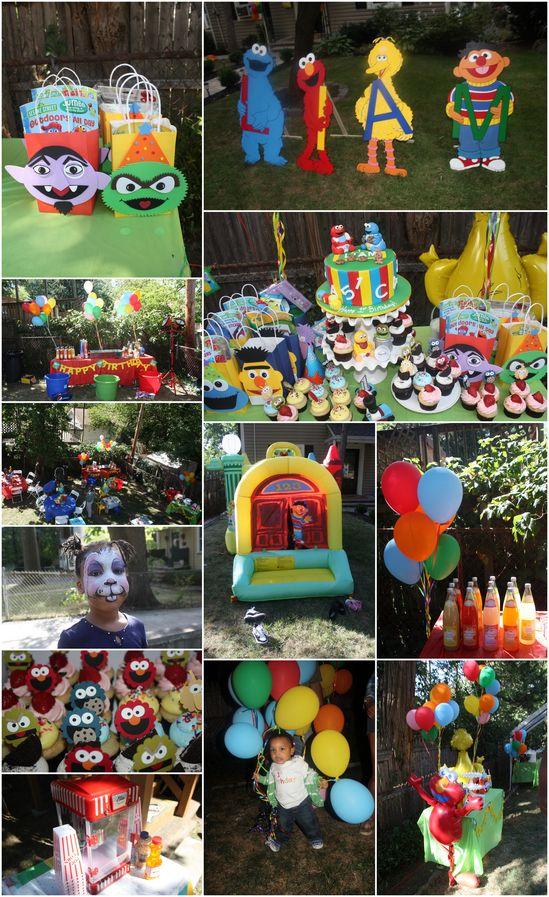 sesame street bday party