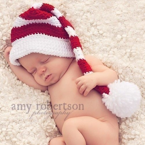 Newborn Christmas Hat @Jennifer Kerr
