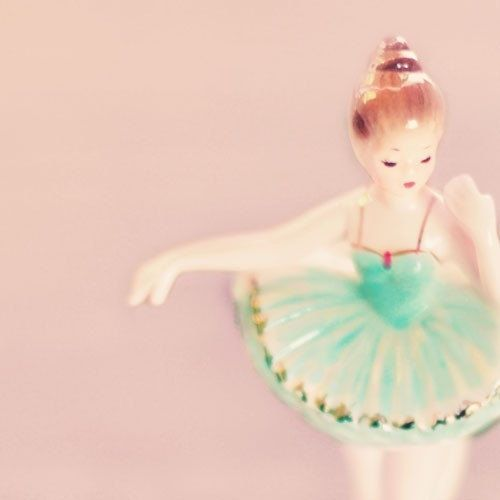 Tiny Dancer  5x5  Photograph pink ballerina print by alicebgardens