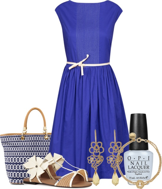 """Blue Dress"" by ljjenness ❤ liked on Polyvore"