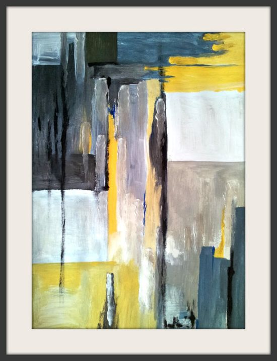 Novembre Abstract Painting by NatureWhisper on Etsy, $45.00