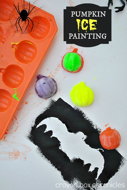 Pumpkin Ice Painting by Crayon Box Chronicles