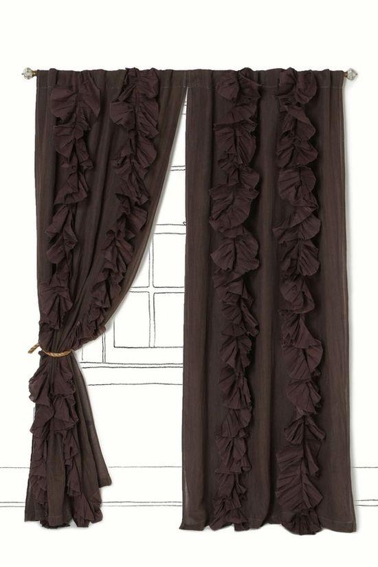 diy ruffled curtain panels