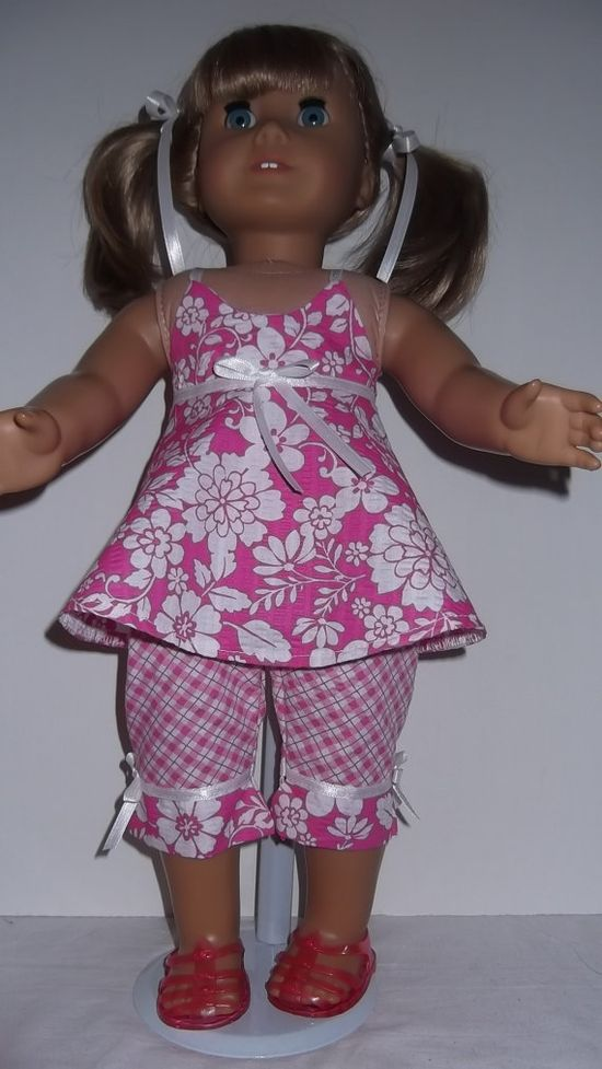 American Girl doll clothes  Pink Capri Top & by susiestitchit, $18.00