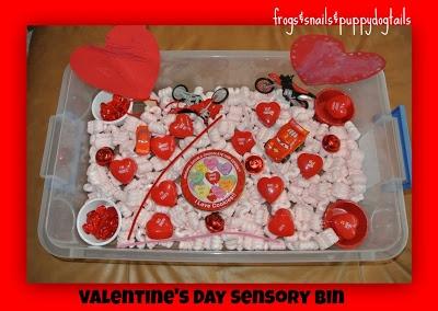 Valentine's Day Sensory Bin- learn & play.