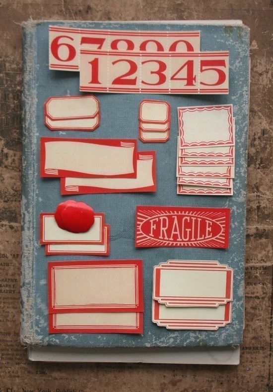 labels, from julie collings. I love these. I used to have some plain vintage red labels that I used to label my journals for years.