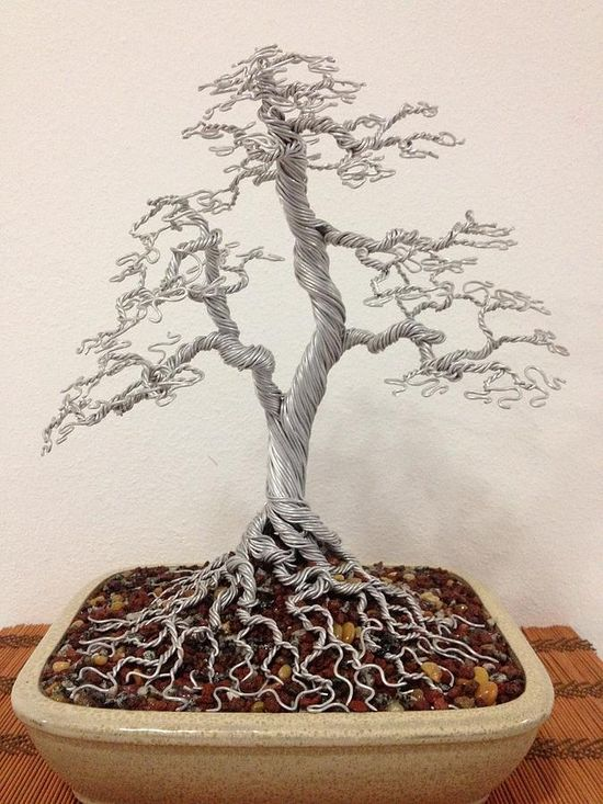 wire bonsai tree - G