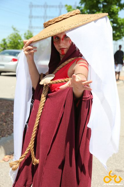 Cosplay of The Painted Lady from Avatar the Last Airbender