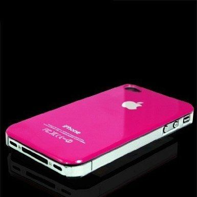 Hot Pink Hard Case For Apple iPhone 4 / 4S
