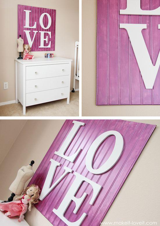 Smart!  Bead board + letters. Darling!