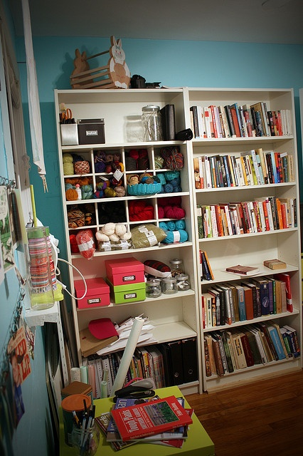 sewing room target shelves like the cubed area in bookshelf
