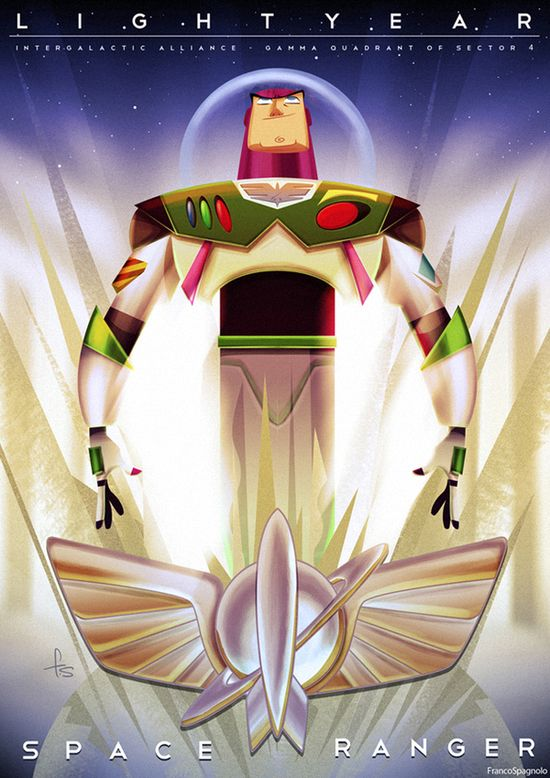 Buzz Lightyear & The Pixar Times by Franco Spagnolo, via Behance