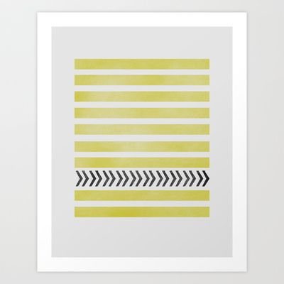 STRIPES AND ARROWS Art Print by Allyson Johnson