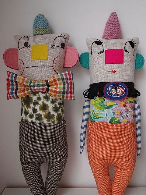 lovely dolls with crochet hats