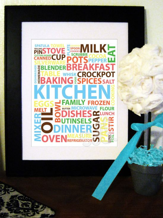 Kitchen Word Art Printable