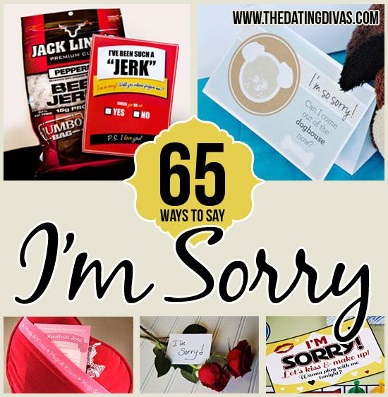 A whole collection of DIY quick and clever apology ideas!!  Pin now (and hope you don't need it too soon)  ;)