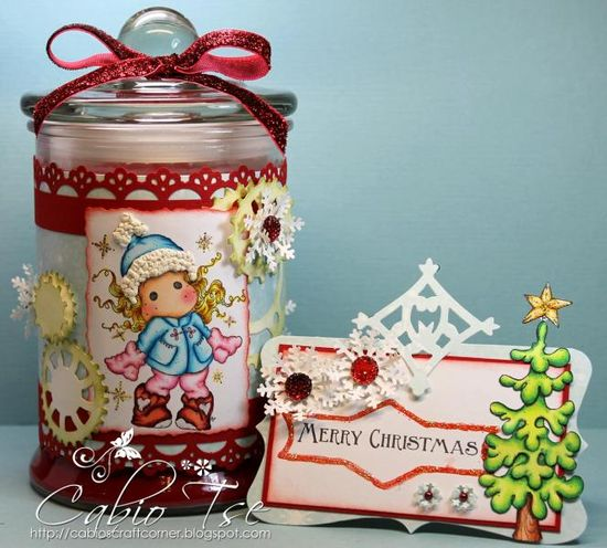 Magnolia North Pole Tilda Gift Wrapper Candle with Mini Card