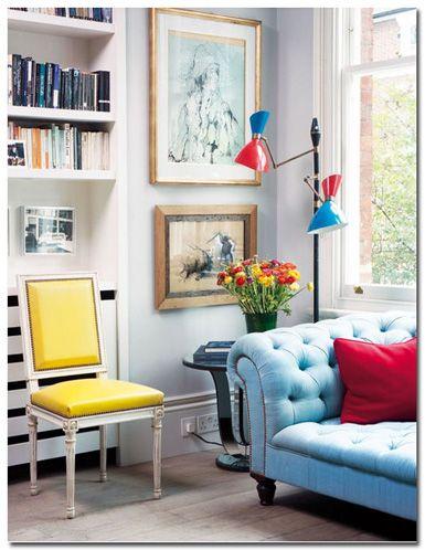 vintage and modern Living Room