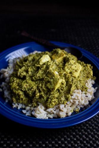 Kale Palak Paneer Homemade Paneer (via Noms for the Poor )